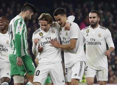 95c405ec754 Real Madrid snatch all three points thanks to 88th-minute free-kick from  Ceballos