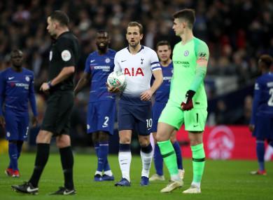 Spurs captain Harry Kane scored the decisive goal at Wembley.