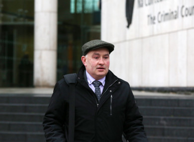 Farmer Patrick Quirke, who is accused of the murder of Bobby Ryan, leaving the Central Criminal Court Dublin