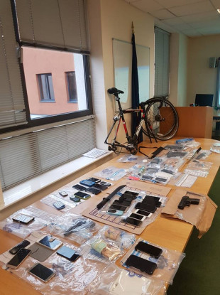 The items seized at the properties by An Garda Síochána