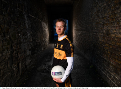 Fionn Fitzgerald at today's media event ahead of Dr Crokes AIB All-Ireland senior football club semi-final.