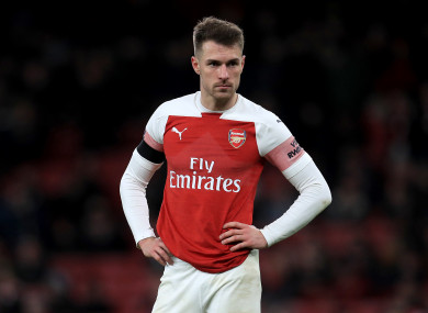 Ramsey pictured during Arsenal's FA Cup clash with Manchester United.