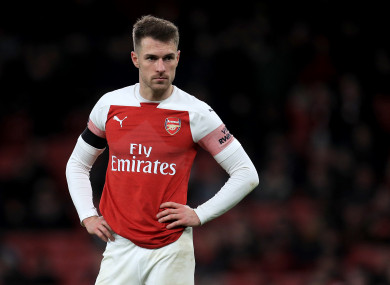 Aaron Ramsey during last month's FA Cup defeat to Manchester United.
