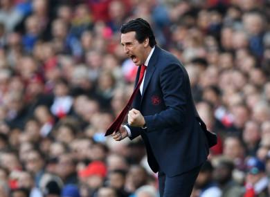 Arsenal manager, Unai Emery.