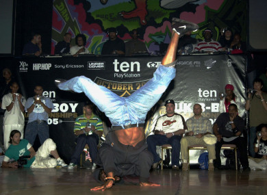 A breakdancing competitor (file pic).