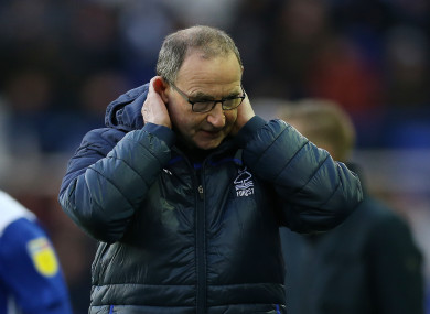A frustrated Martin O'Neill.