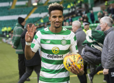Sinclair claimed the match ball after full-time at Parkhead.