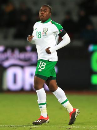 Michael Obafemi made his senior debut for Ireland against Denmark in November.