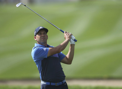 Sergio Garcia competing in Dubai last month.