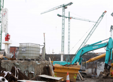 File photo of construction work at the St James's site.