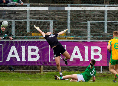 Gary Sice finds the net for the All-Ireland champions.
