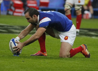 Morgan Parra in action for France in their Six Nations clash with Wales.