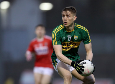 Killian Spillane in action for the Kerry U21s in 2017.