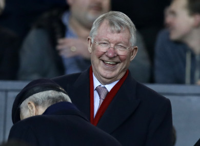 Alex Ferguson pictured at Man United's recent Champions League clash with PSG.