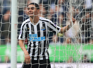 Miguel Almiron was a key performer for Rafael Benitez's side today.