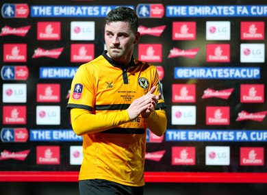 Amond scored a late goal against the Premier League champions on Saturday.