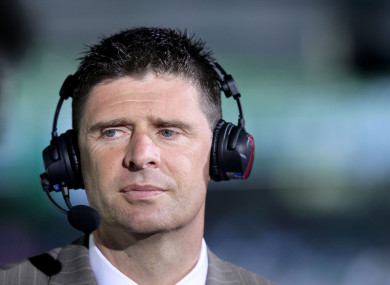 Niall Quinn in a previous role as Sky Sports pundit. He has since left the broadcaster and has concentrated on the Irish game.