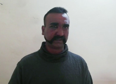 An image of the pilot released by Pakistan's military.