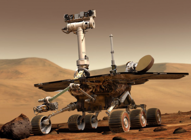 The rover landed on Mars in 2004.