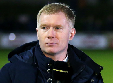 New Oldham Athletic manager Paul Scholes.