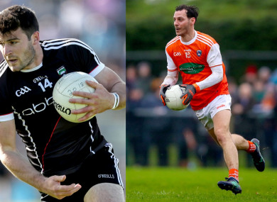 Sligo's Pat Hughes (left) and Jamie Clarke are both handed one-match suspensions by the GAA for their dismissals last weekend.
