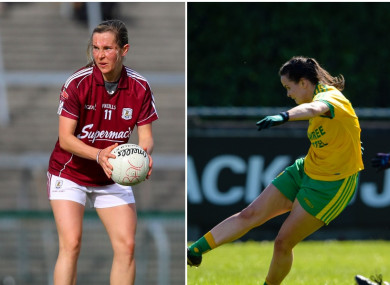 Galway's Tracey Leonard and Donegal's Geraldine McLaughlin were two of the scoring stars this afternoon.