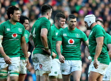 Quinn Roux, James Ryan, Peter O'Mahony, Rob Kearney and Rory Best in Murrayfield.
