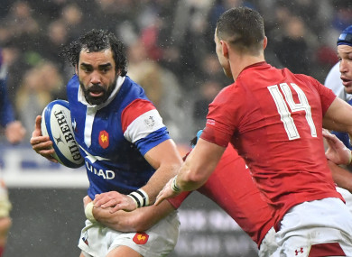 Yoann Huget has retained his place in spite of that mistake against Wales.