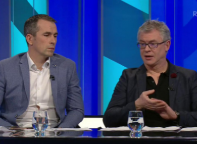 Brolly and Dessie Dolan on RTE last night.