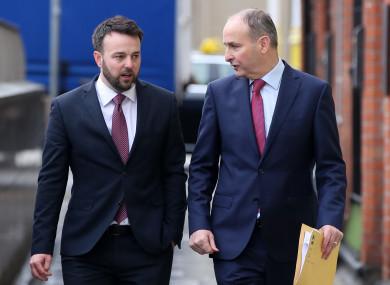 SDLP Leader Colum Eastwood and Fianna Fáil leader Mícheál Martin.