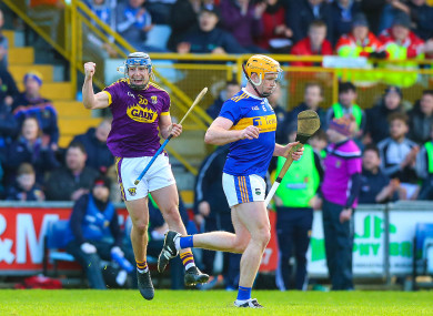 Seamus Casey celebrates a point.