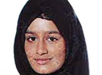A handout from Metropolitan Police Shamima Begum who left Britain in 2015.