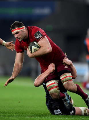 Beirne carries Munster forward during Friday's win.