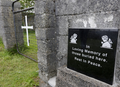 The grounds where the unmarked mass grave containing the remains of infants who died at the Bon Secours mother-and-baby home in Tuam Co Galway from 1925-1961 rests.