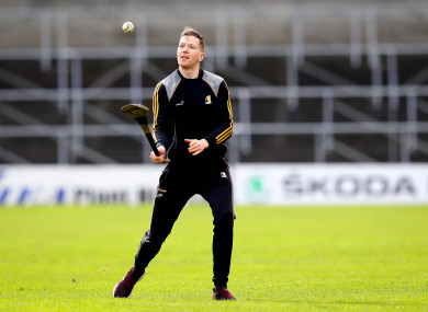 Walter Walsh warming up before Sunday's clash against Limerick.