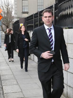 Sean Quinn Jr leaving the Four Courts last week.