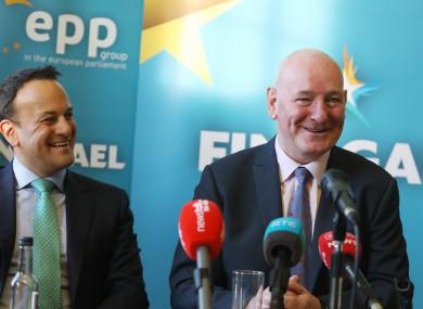 Taoiseach Leo Varadkar with former SDLP leader Mark Durkan.