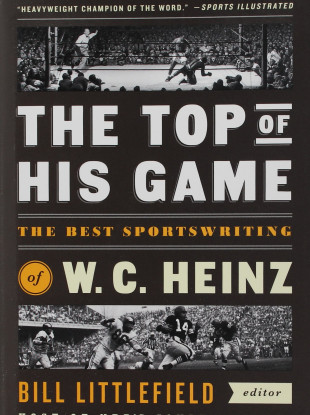 The Top of His Game, a collection of Heinz's best sportswriting, was published in 2015.