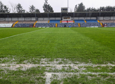 Páirc Uí Rinn was declared unplayable before throw-in yesterday.