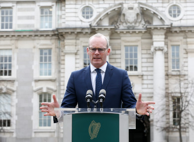 Tánaiste and Foreign Affairs Minister Simon Coveney