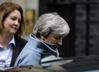 Britain's Prime Minister Theresa May leaves from Downing Street earlier this week