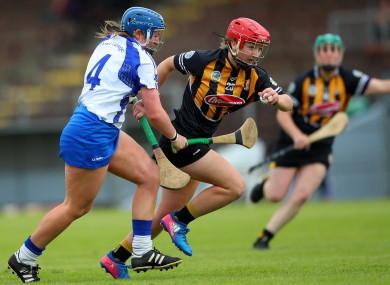 Kilkenny's Danielle Morrissey is tackled by  Claire Whyte of Waterford.