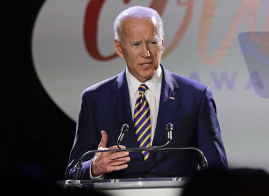 Former US Vice President Joe Biden speaks at the Biden Courage Awards earlier this week.