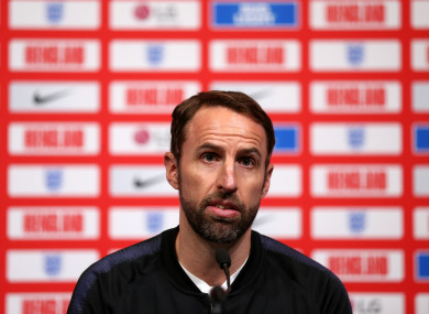 Southgate speaking at this evening's press conference.