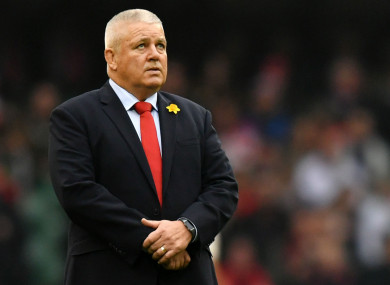 Wales head coach, Warren Gatland.
