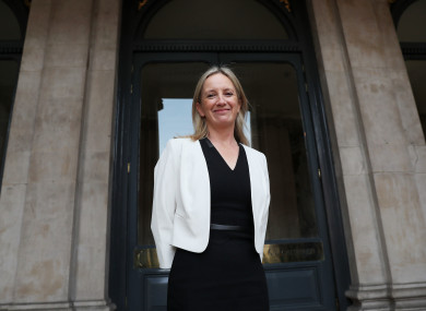 Gemma O'Doherty pictured in September 2018 at City Hall in Dublin ahead of a DCC meeting to hear from prospective presidential candidates seeking a nomination.