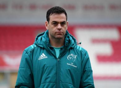 Munster head coach, Johann van Graan.