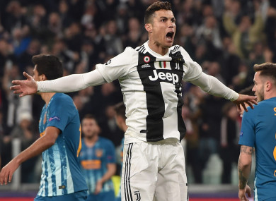 Juventus star Cristiano Ronaldo.