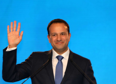 Leo Varadkar at the Fine Gael National Conference in 2017.