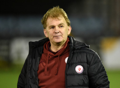 Sligo Rovers manager Liam Buckley.